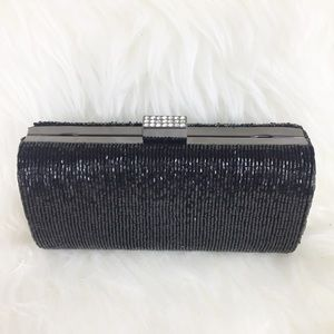 Lord & Taylor | Black Beaded Clutch
